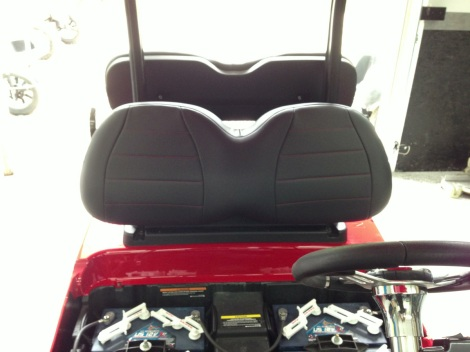 Here are our SC Carts custom upholstered seats! Another awesome touch to set this Precedent off with!