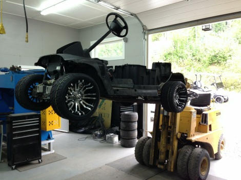 "Here we have the Precedent with it's new 12"" wheel and tire package installed after it's complete SC Carts inspection."