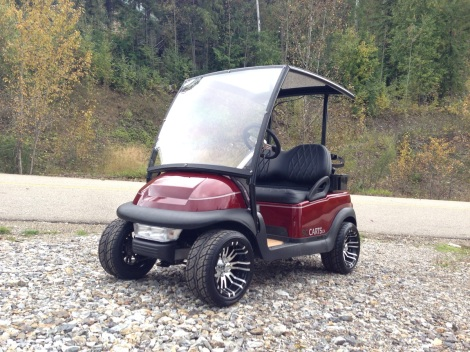 The SC Carts Custom Precedent roof system really sets an SC Cart apart from all the other Club Car Precedents out there!