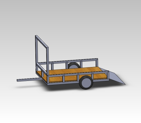 This is where things are a bit different for this build. As we mentioned before the customer needed a low and lightweight trailer. So we started off by designing the all aluminum trailer in our Soldiworks 3D software.