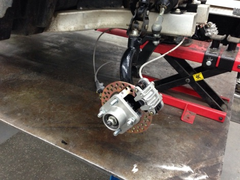 Here is another picture of this awesome hydraulic brake system.