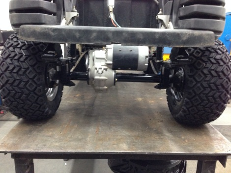 """Along with the 6"""" lift kit we added HD springs so that this cart can handle anything we throw at it."""