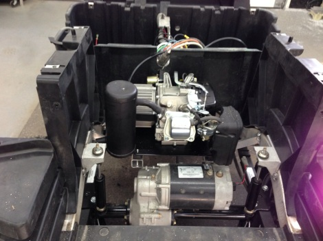 Next we installed the rubber mounts and then the motor mount plate and finally the hybrid motor itself.