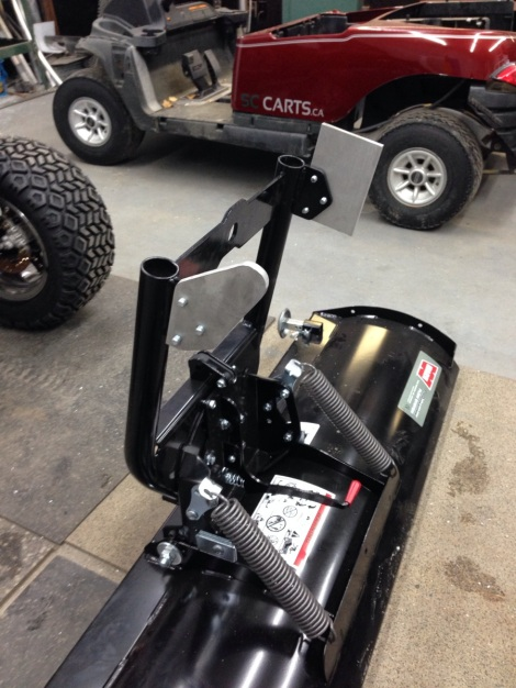 With a bit of machine work, our Club Car Precedent plow mount is starting to look good!
