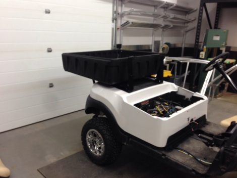 With the frame work securely attached to the Precedent chassis we installed the work box.