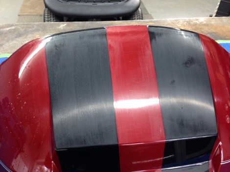 Here are the stripes all sanded out.