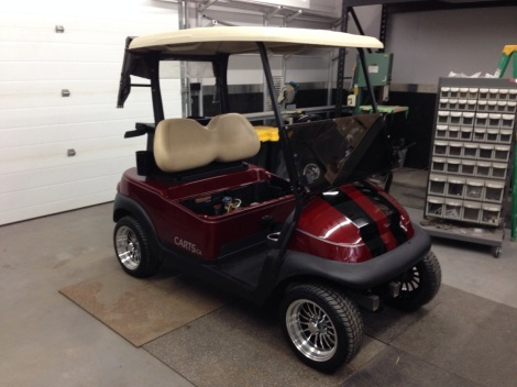 With the cowl on this Club Car Precedent really has a sporty look.