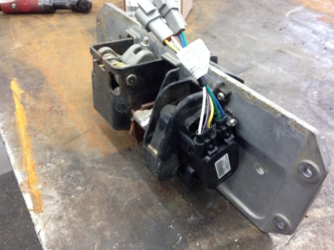 Here we are installing an upgraded MCOR to the foot pedal group.