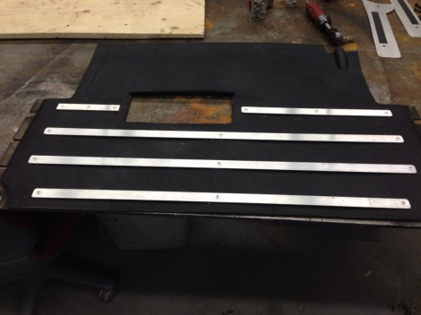 Here is the custom Club Car floor mat ready to be installed.