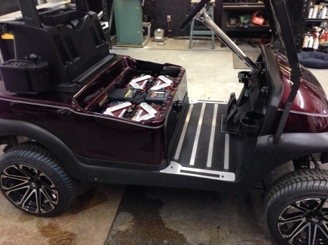Check out how awesome this SC Carts custom Precedent floor mat looks installed!