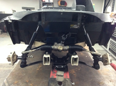 We started this build off by rebuilding the front end of this Precedent, here you can see things are looking great.