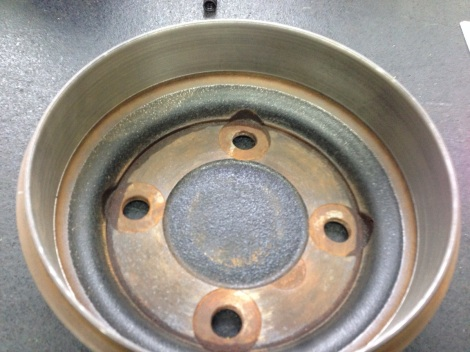 We discarded the damaged drum and replaced it with one of our re machined SC Carts drums, that we machine right in house.