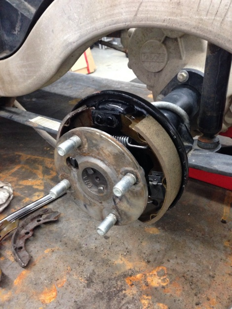 We then replaced the brake pads and cleaned the entire brake mechanism.