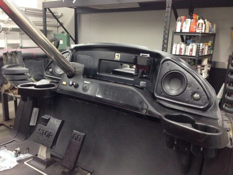 Here is the custom molded dash with high end component speakers! How awesome is this system.