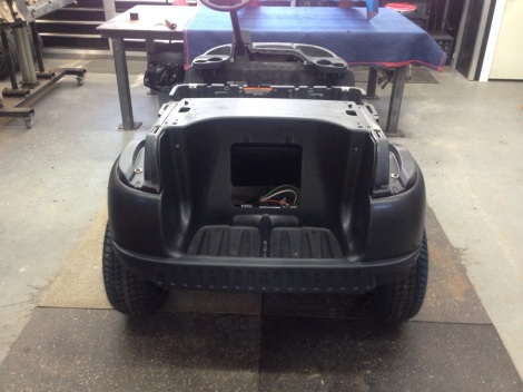 With the paint curing we installed the Precedent rear underbody.