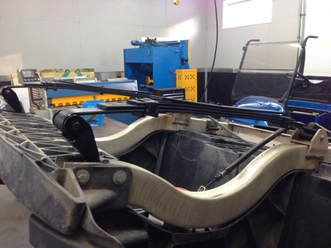 Check out this beefy suspension setup! These leaf springs will carry a serious load!
