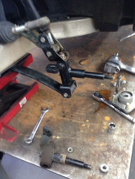 Here is the new Club Car factory spindle installed.