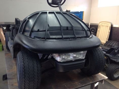 With the drivetrain end of things wrapped up we installed the front headlight package and the front underbody.