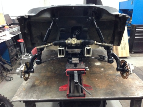 This buggy is going to need all the stopping power it can get and this braking system is just the answer!