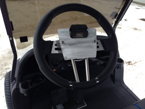 We then installed our SC Carts score card holder on the custom steering wheel.