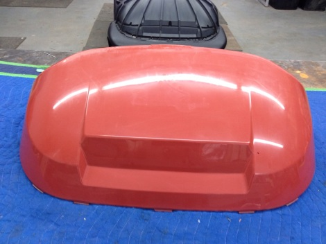 Here is the factory Club Car cayenne cowling ready to be prepped for paint.