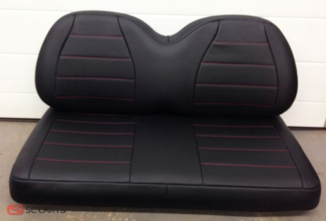 Talking about speedster, we don't think you can get anymore of a classic speedster seat then black with red stitching.