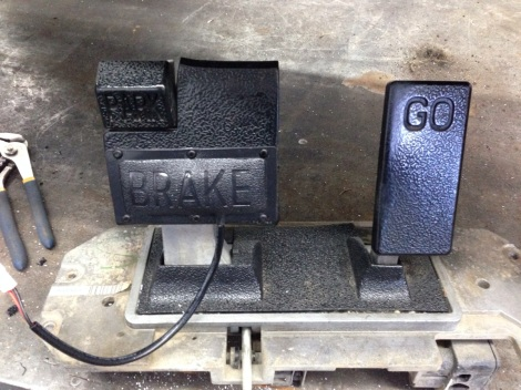 This cart is also getting our full road ready kit so we added the brake light pedal switch.
