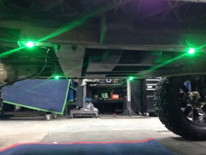 Here is what the holes were for. Custom green LED lights, this will set the cart apart at night!