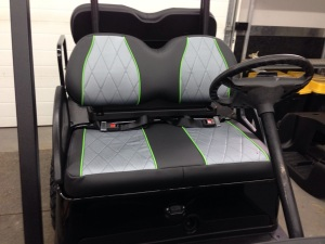 We then installed the front seats as well to finish of the seat portion of the build. These look amazing!