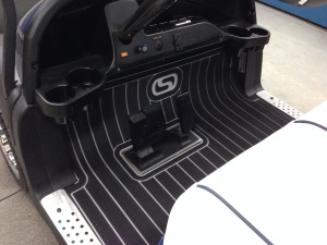 Here's another shot of our brand new Club Car Precedent floor mats.