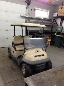 This cool build starts with a 2009 Club Car Precedent fresh of the truck from Club Car.