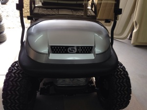 We finished off the front of the cart with one of our custom SC Carts grills.