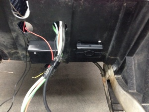 Then we installed an RF brain box under the rear Club Car underbody.