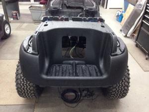 We then installed the rear Precedent underbody.