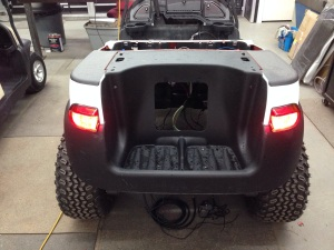 We then installed the rear Precedent body and installed the LED taillights.