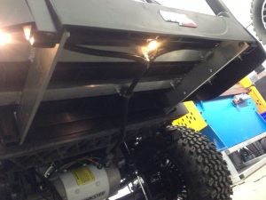 We even installed 3 lights under the rear foot rest. That made a total of 11 LED accent lights on this awesome buggy! And did we mention they are all controlled via a remote fob! These lights can be turned on from 2000ft away!!!