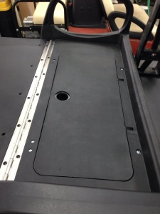 We ordered the rear seat kit specifically for the fact that it had a trap door in the back. Our customer wanted a place to store his cooler so it wasn't in the way when we was hauling guests or stuff down to the lake.