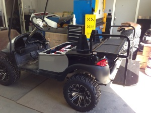 This cart is not just a show piece but it is actually going to be put to work hauling people!