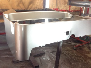 This is the Precedent body after base coat and several coats of clear.