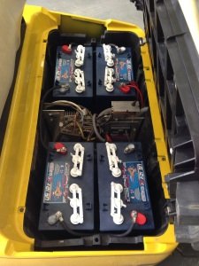 The first thing we did was install our favorite type of batteries! US Batteries.