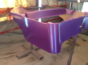 Next we moved onto the bold resort cart! Check out this sweet purple pearl paint job!