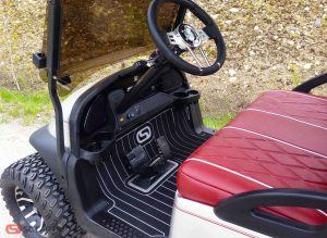 Look how seat these custom Precedent seats look with the custom SC Carts floor mat!