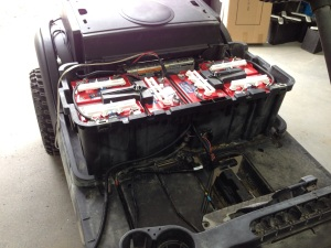 While the clear coat dried on the main Precedent body, we installed the new US Battery, battery pack.