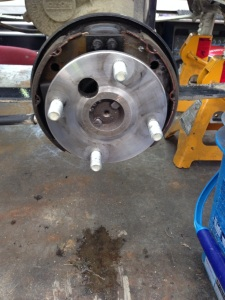 The brakes have been inspected, and cleaned. Ready to go to work!