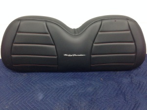 To add a little style to this already amazing machine, we added some custom Harley stitching to the seats.