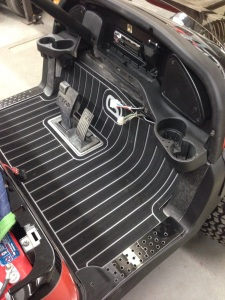 Of course this beauty is getting one of our SC Carts custom Precedent floor mats!