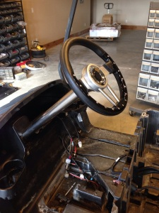 The customer did a last minute addition with a custom steering wheel package, and what a great choice that was!