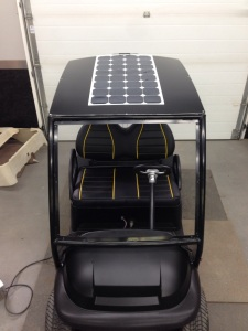 Of course our custom SC Carts roof system wouldn't be complete without our SC Carts solar charging system!