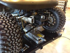 Next we installed our custom made plow and winch mount.