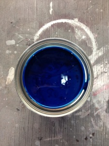 Next we mixed up some House of Kolor Kandy blue, what an awesome color!